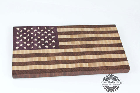 American Flag End Grain Cutting Board (Large)