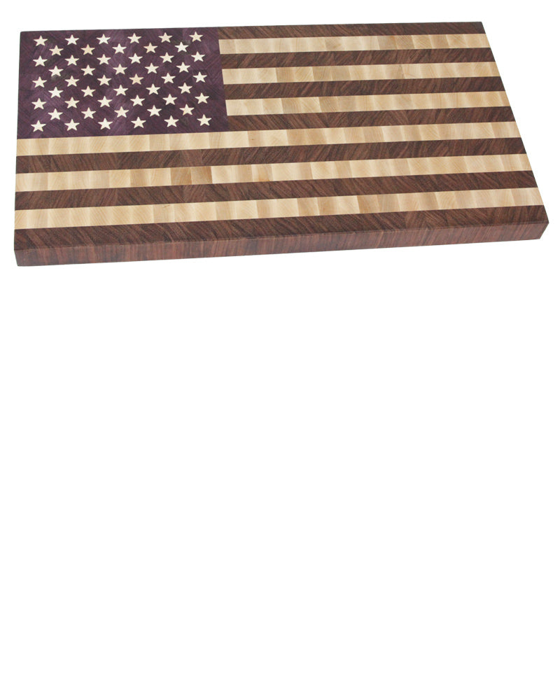 Large end grain american flag cutting board!