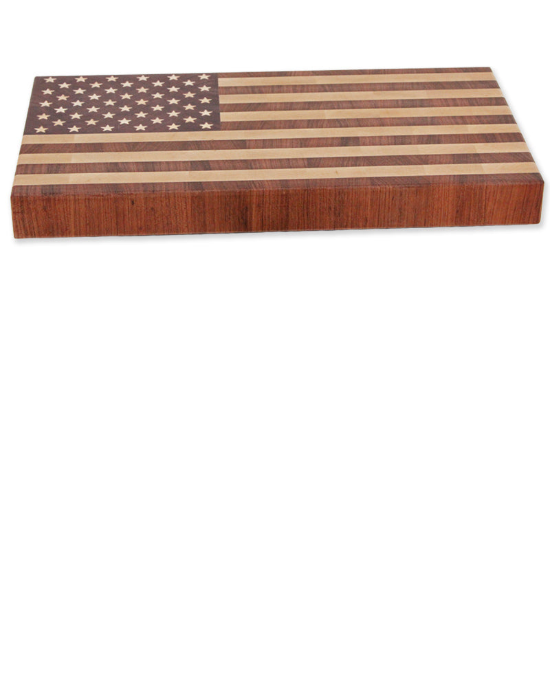 Small end grain american flag cutting board!