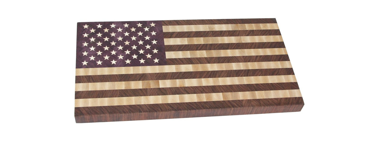 American Flag end grain cutting board