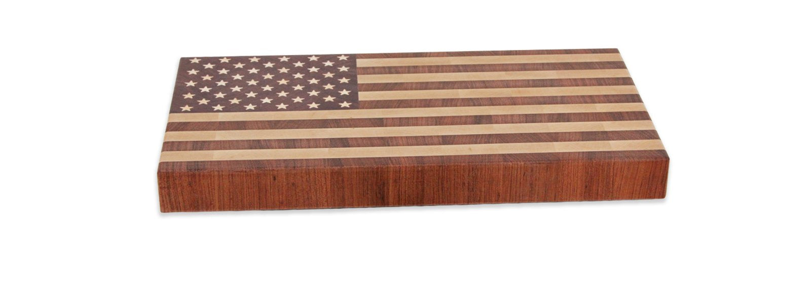 American Flag end grain cutting board (Compact)