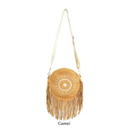 BONAIRE LEATHER BAG - CAMEL