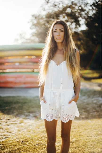 LOTUS LACE ROMPER