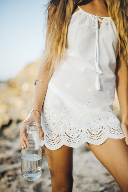 LOTUS LACE SHORT DRESS