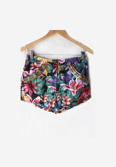 ELECTRIC GARDEN HIGH WAISTED CHELSEA SHORTS