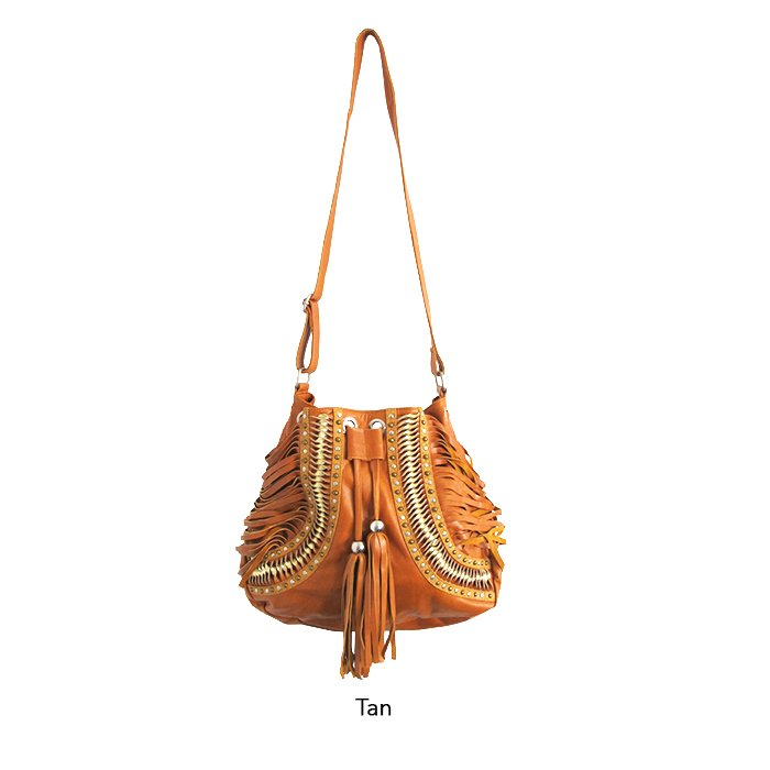 JARDIN LEATHER BAG - TAN