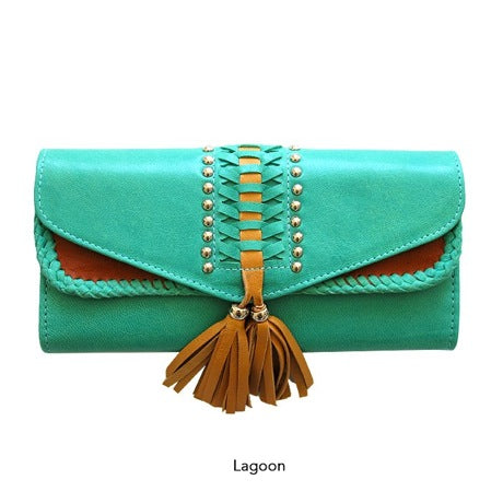 LEMARI LEATHER WALLET - LAGOON