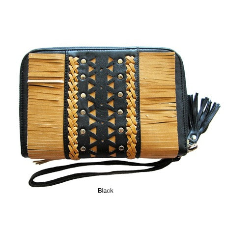 WILLOW FRINGE LEATHER WALLET