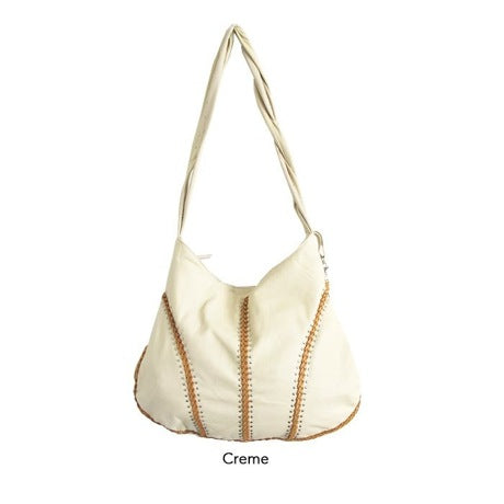 CABO LEATHER BAG - CREME