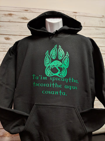 Celtic Knot Paw and Tree of Life Hoodie