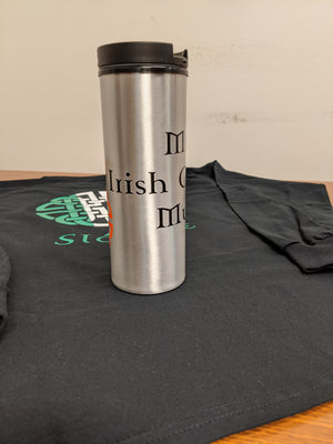 "Stainless Steel ""Irish"" Travel Mug"