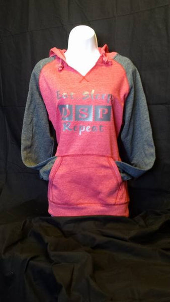 Women's Direct Support Professional Lightweight Raglan Fleece Hoodie