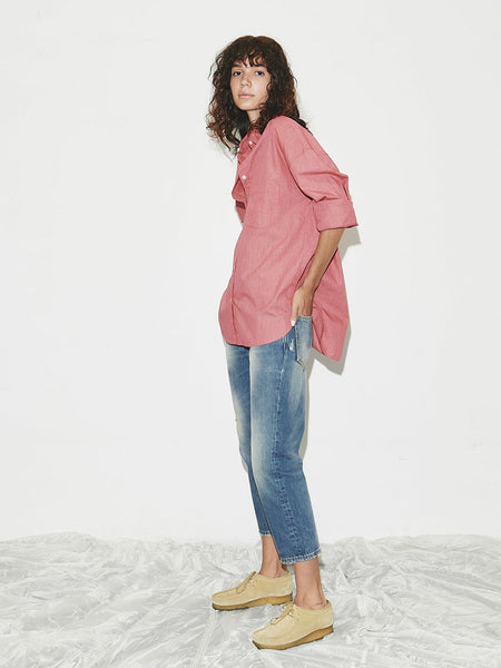 Striped Lori Shirt in Red Stripe