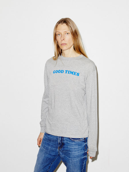 Good Bad Times L/S Boy T in Heather Grey