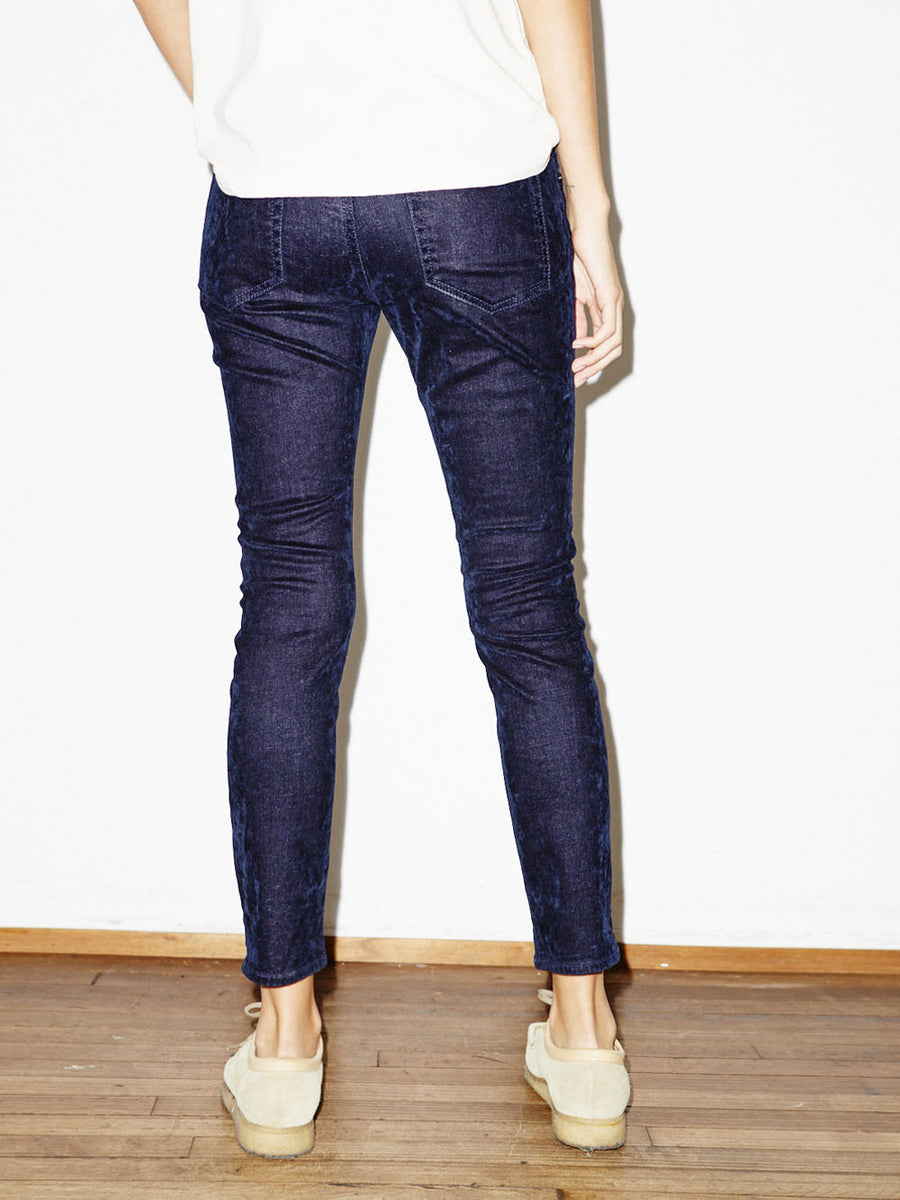 Mini Skinny in Navy Velvet