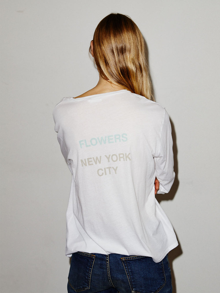 NYC Flowers L/S Man T