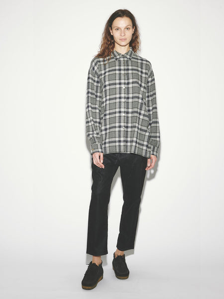Big Shirt in Grey Plaid