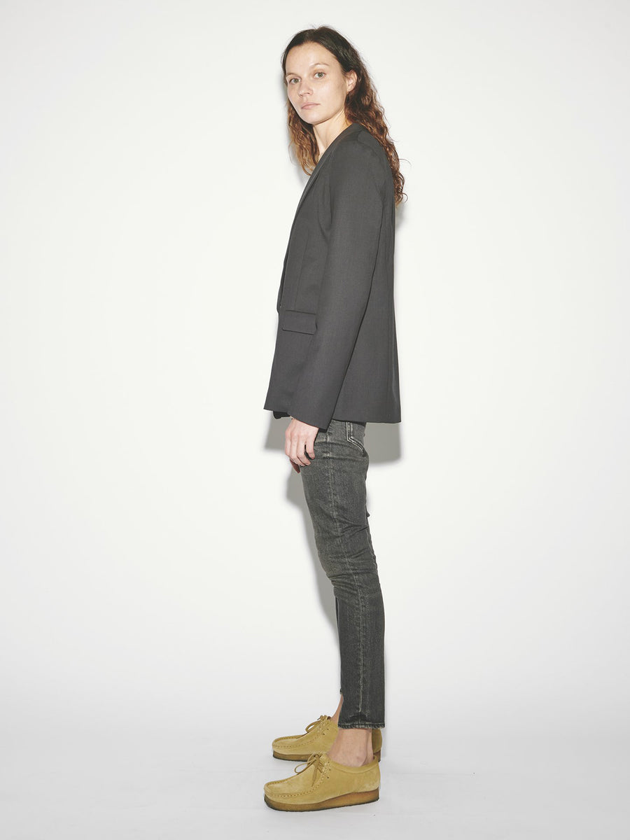 Shawl Collar Blazer in Coal