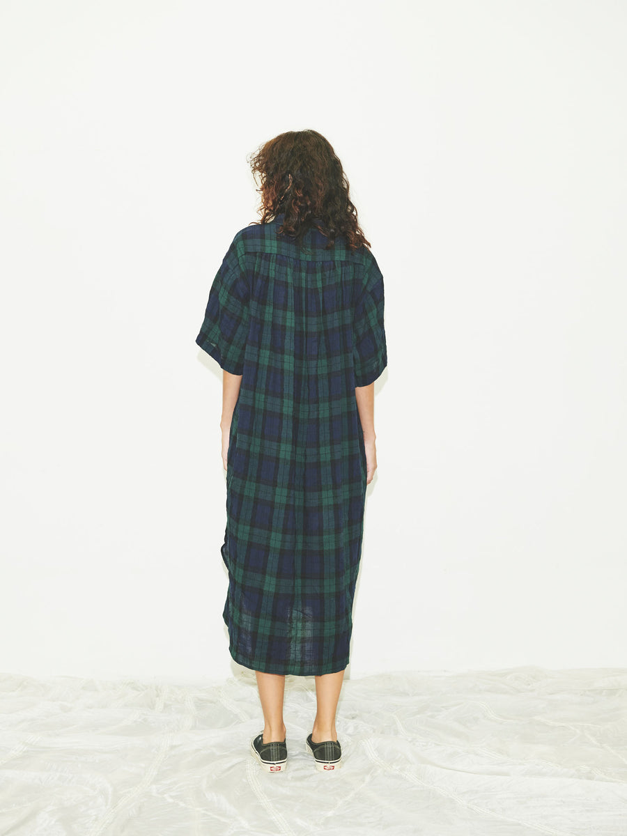 Oversized Shirtdress in Blackwatch