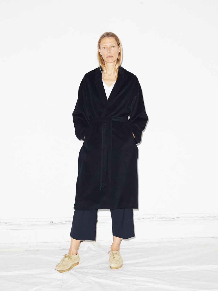 Wrap Coat in Navy