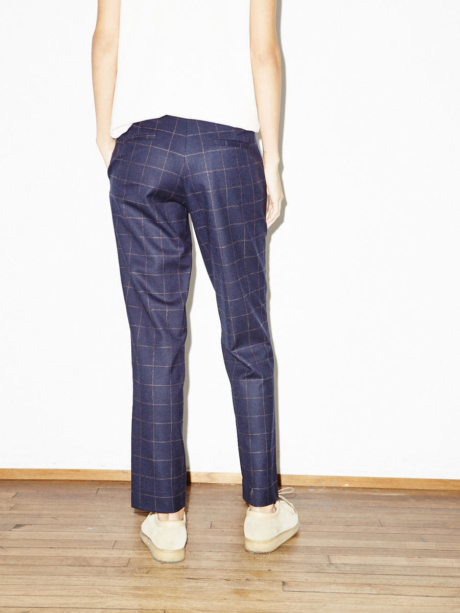 Relaxed Trouser in Navy Windowpane