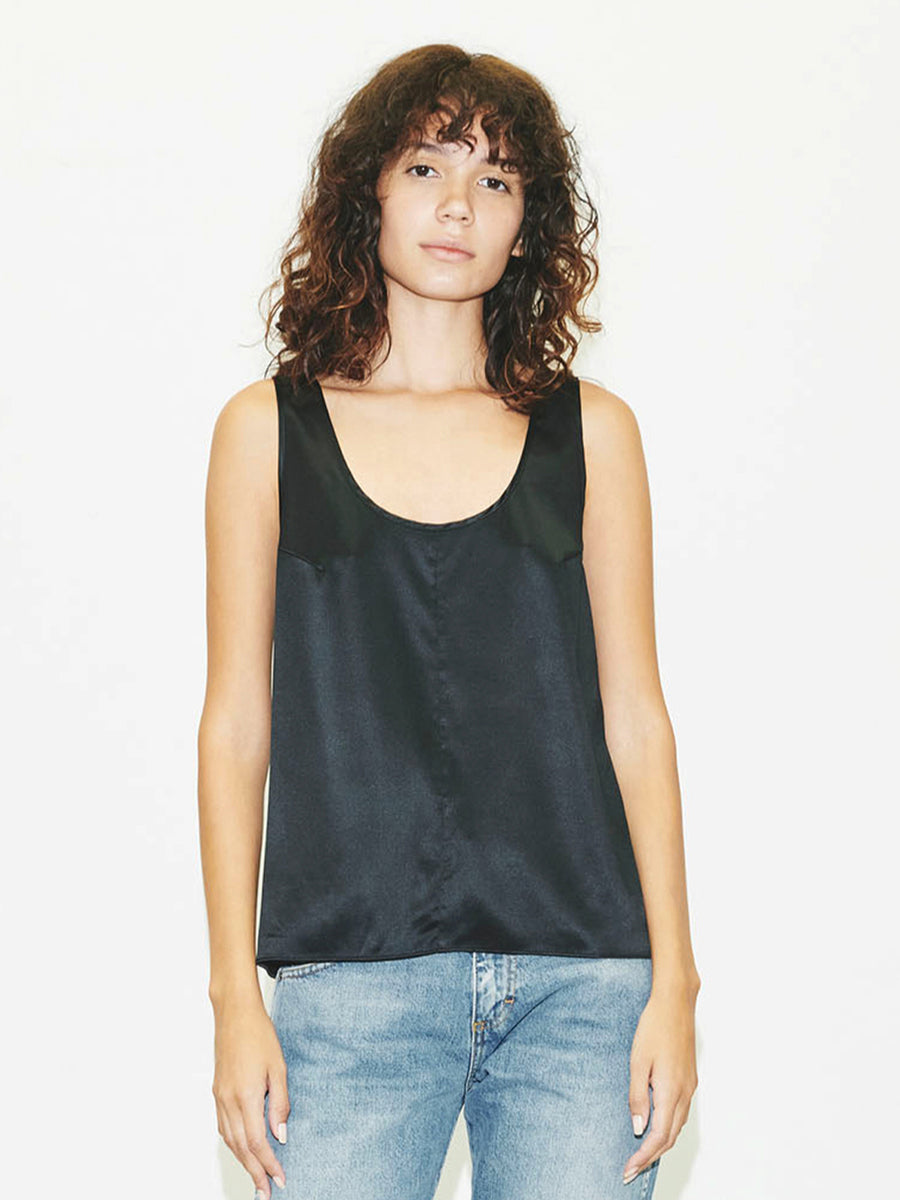 Silk Tank in Black