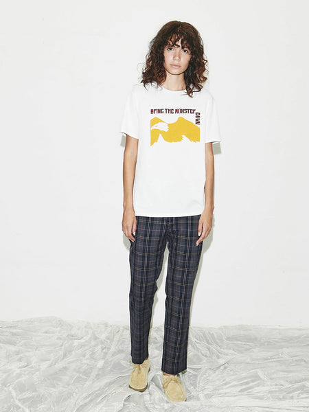 Relaxed Pant in Navy Plaid