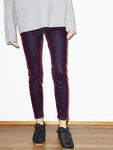 Mini Skinny in Purple Velvet