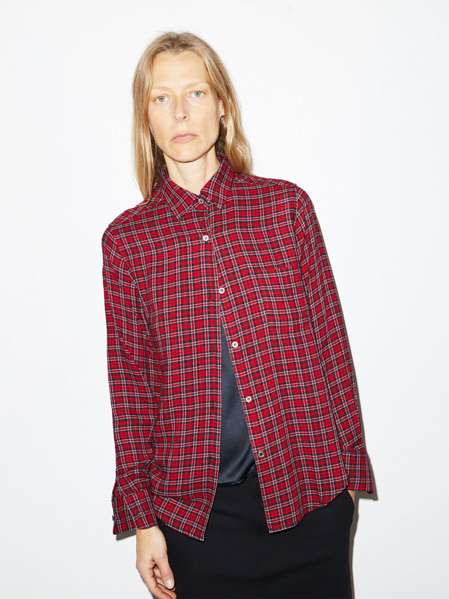 Red Plaid Buttondown Shirt