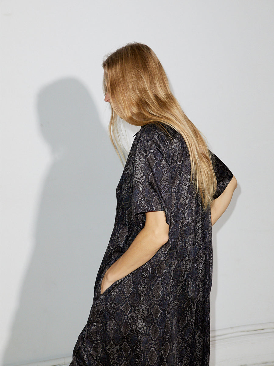 Snakeskin Shirtdress
