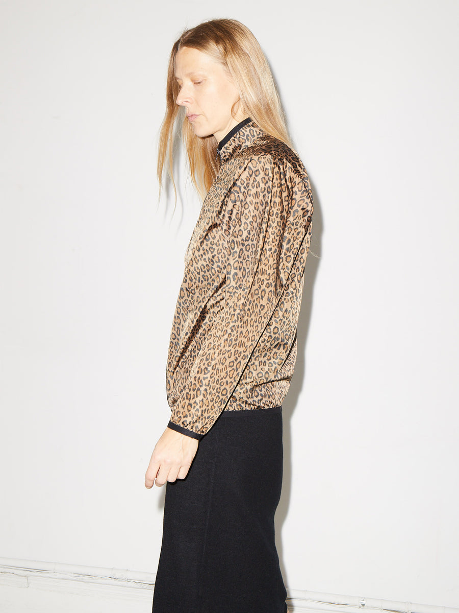 Windbreaker in Brown Leopard