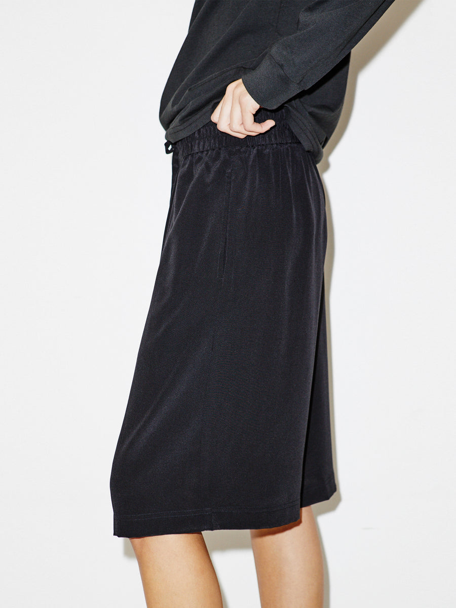 Silk Board Shorts in Black