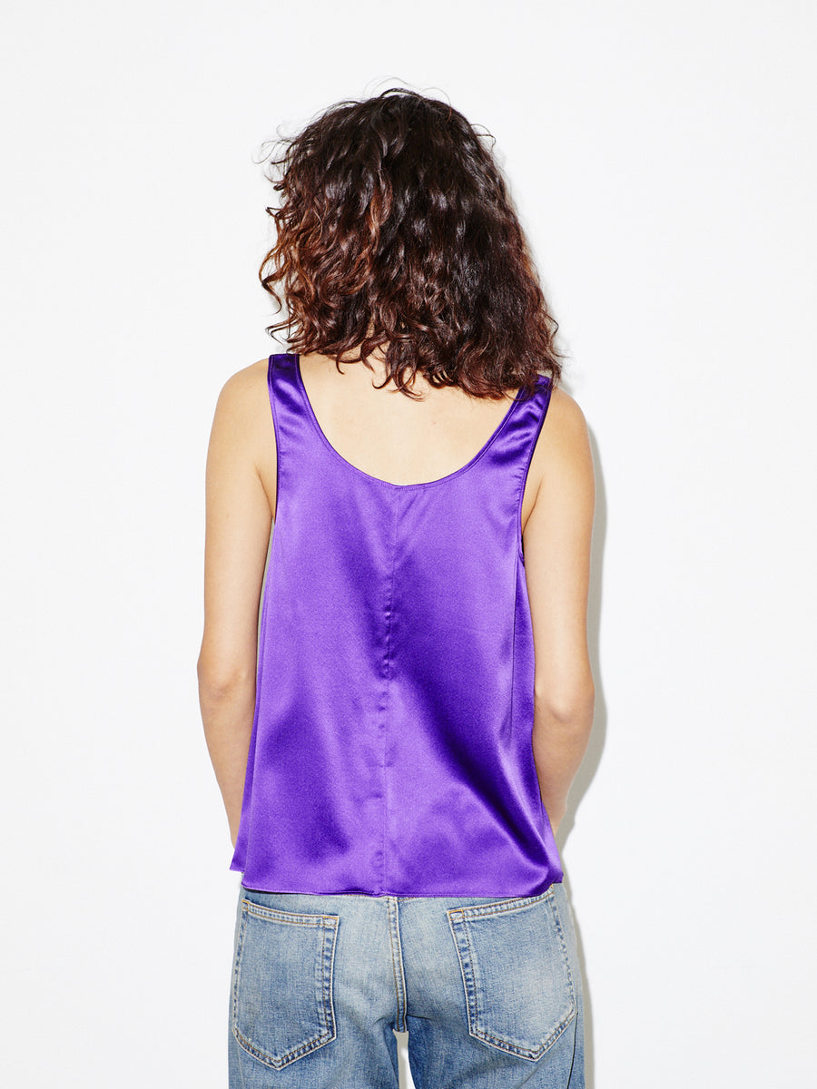 Silk Tank in Purple