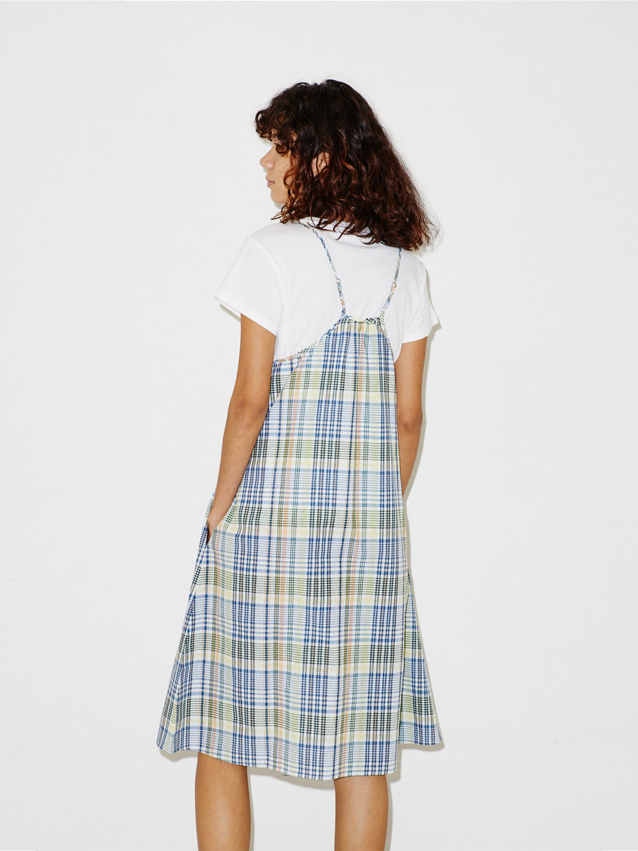 Nightie Dress in Blue Madras