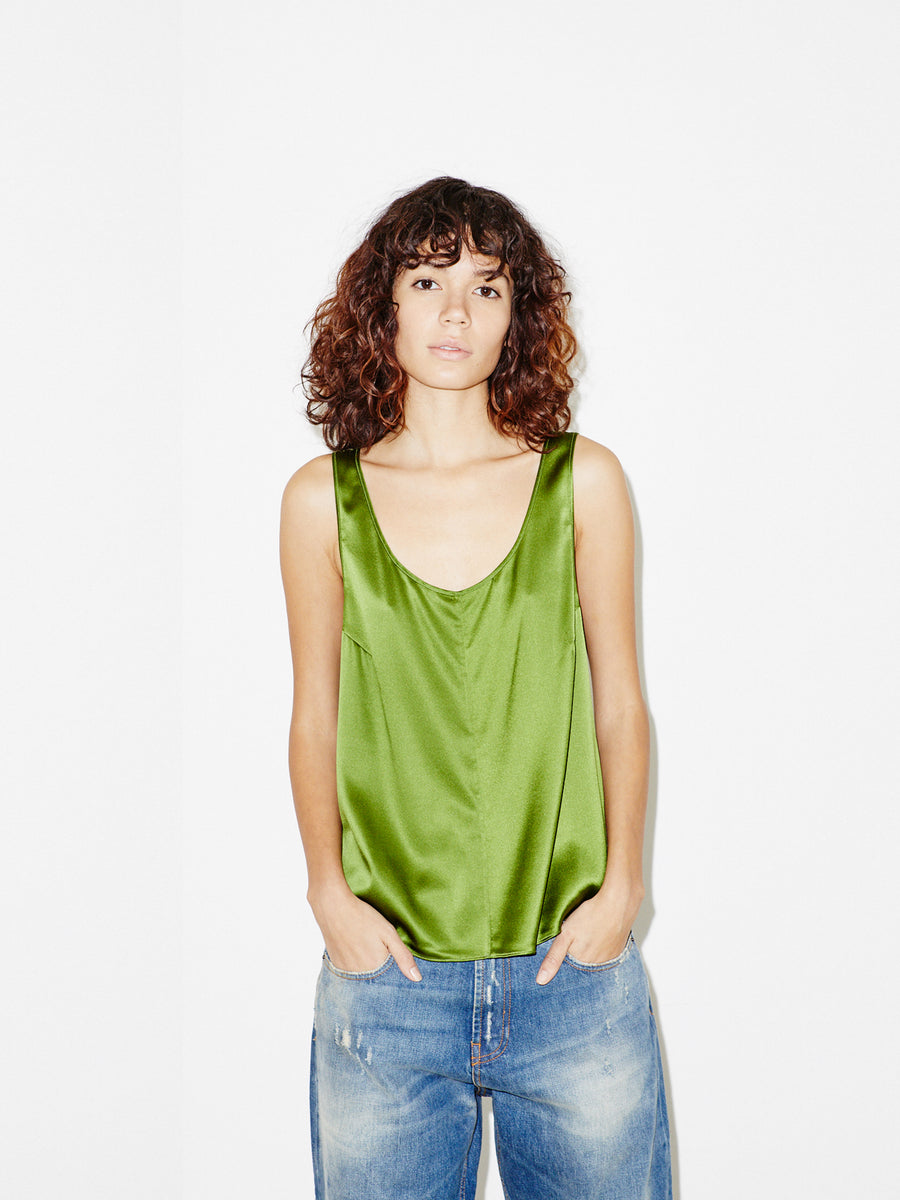 Silk Tank in Green