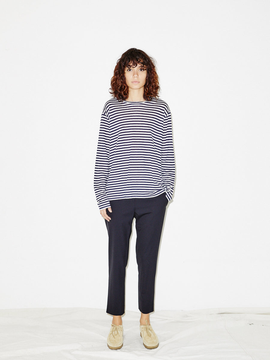 Pull-on Trouser in Navy