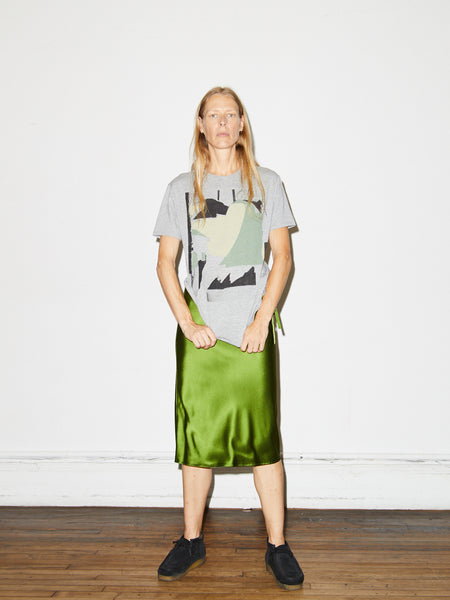 Drawstring Skirt in Green