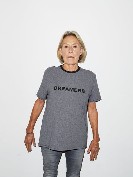 Striped Dreamer T in Grey
