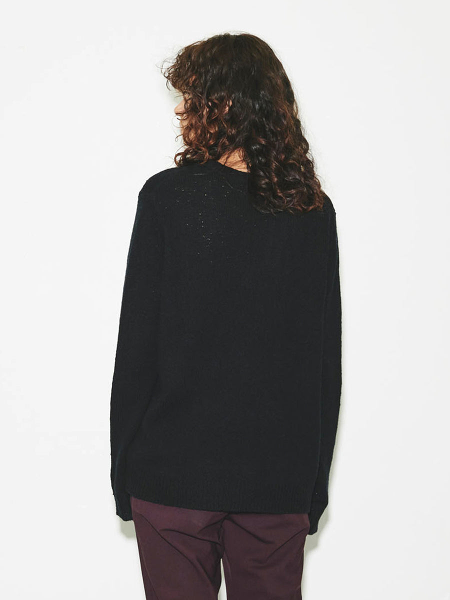 Oversized Crewneck in Black