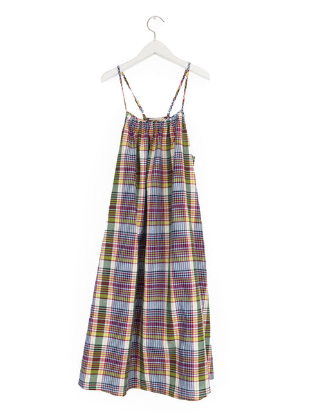 Nightie Dress in Red Madras
