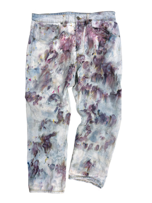 Purple Splatter Shorty - Size 31