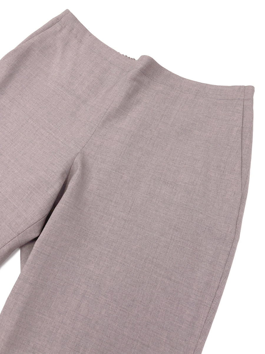 Pull-On Trouser in Pink Melange