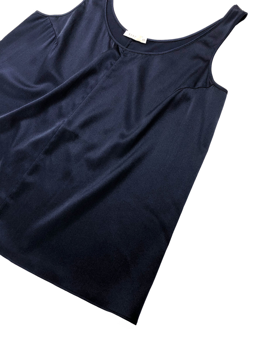 Silk Tank in Midnight