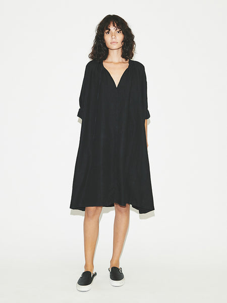 Peasant Dress in Black