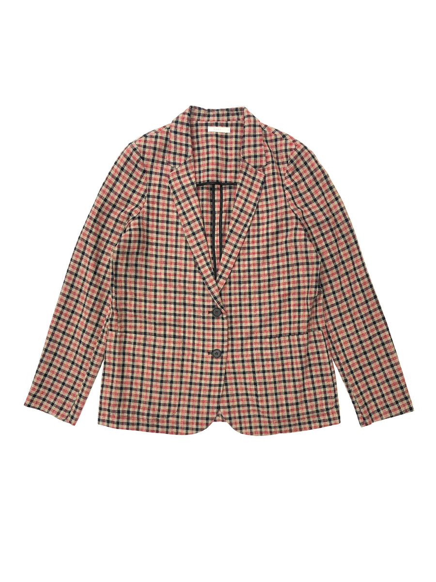 Spring Blazer in Red Check