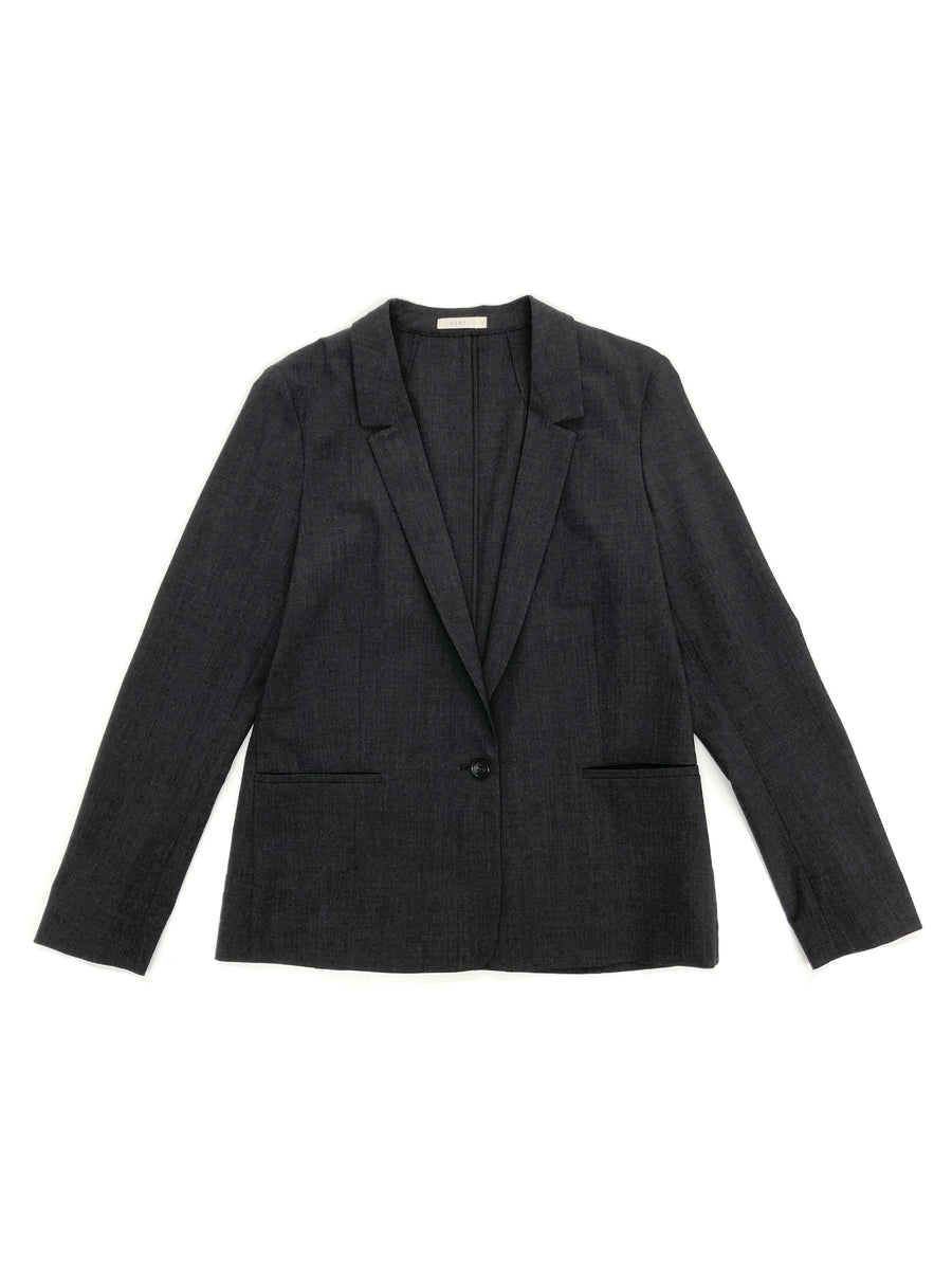 Mini Lapel Blazer in Charcoal