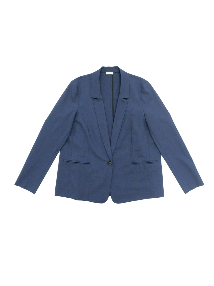 Loose Blazer in Midnight Melange