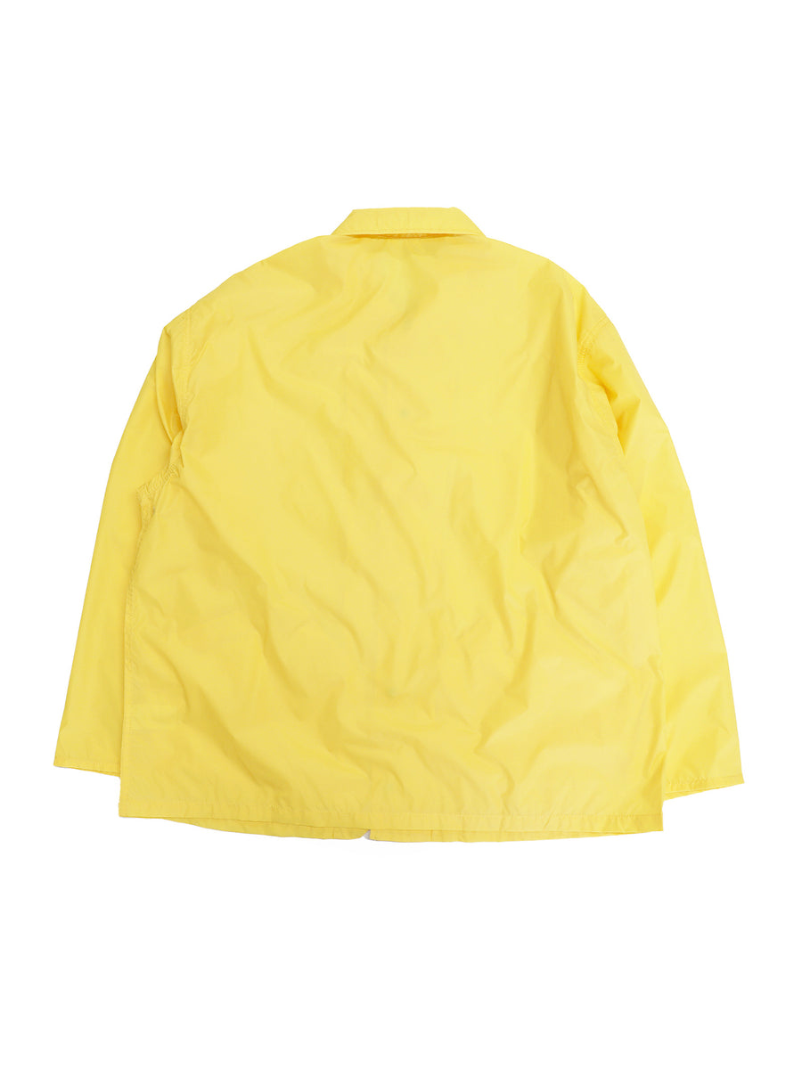 Oversized Coaches Jacket in Yellow