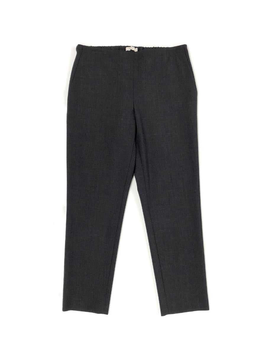 Pull-On Trouser in Charcoal