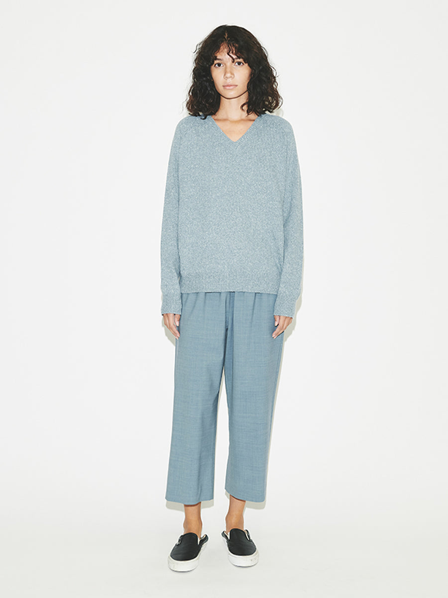 Wide Leg Pull-on in Chambray